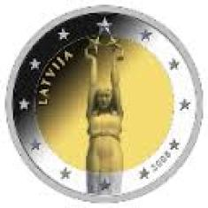 Кованица са симболом јединства и независности Р. Летоније емитована 2008. године на апоену од 2 евра Европске монетарне уније.